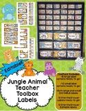 Teacher Toolbox AND Sterilite Drawer Labels- Animal Themed- EDITABLE