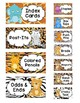 Teacher Toolbox AND Sterilite Drawer Labels- Animal Themed- EDITABLE