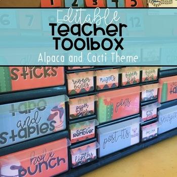 Teacher Toolbox: Alpaca and Cacti [Editable!]