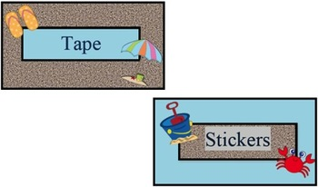 Teacher Toolbox Beach Labels