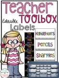 Teacher Toolbox Neon B&W Labels *EDITABLE*