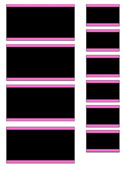 Teacher Toolbox Black & Bright Editable
