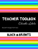 Teacher Toolbox Black & Bright Editable