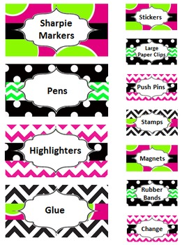 Teacher Toolbox - Black Green and Pink