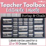 Teacher Toolbox - Burlap & Chalk - Rustic Farmhouse Chic