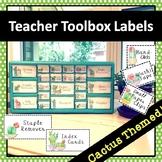 Teacher Toolbox Cactus Labels