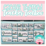 Teacher Toolbox - Cactus Themed (EDITABLE)