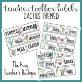 Teacher Toolbox Labels- Cactus Themed EDITABLE
