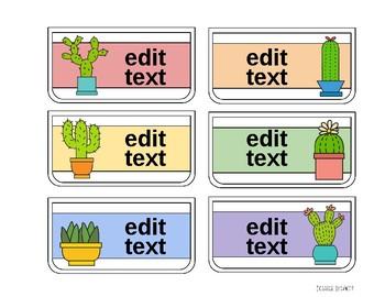 Teacher Toolbox Cactus and Succulent Theme (Pastels)