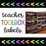 Teacher Toolbox- Chalkboard Themed