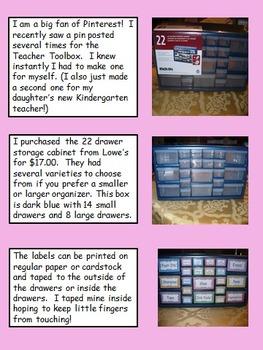 Teacher Toolbox (Polka Dots Themed) - EDITABLE
