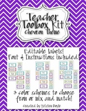 Teacher Toolbox - Chevron theme (EDITABLE)