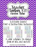 Teacher Toolbox - Chevron theme (EDITABLE)