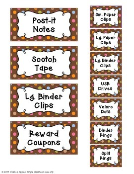 Teacher Toolbox - Chocolate Pastel Dots (Editable)