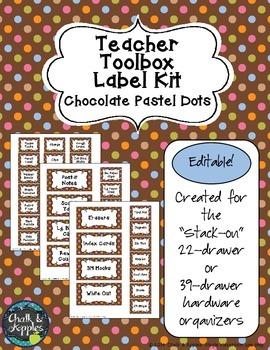 Teacher Toolbox - Chocolate Pastel Dots (Editable)