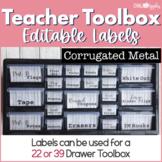 Teacher Toolbox - Corrugated Metal - Rustic Farmhouse Chic