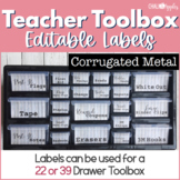 Teacher Toolbox - Corrugated Metal - Rustic Farmhouse Chic