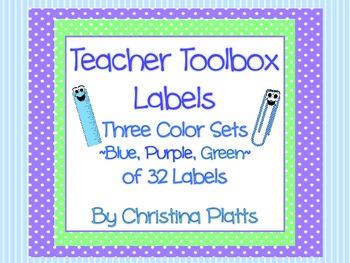 Teacher Toolbox Drawer Labels