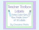 Teacher Toolbox Drawer Labels