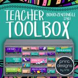 Teacher Toolbox Labels - BOHO Zentangle Design Style