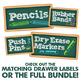 Teacher Toolbox Drawer Labels - Chalkboard Design Style