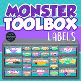 Teacher Toolbox Drawer Labels - Monster Design Style