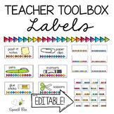 #stockupsale Editable Teacher Toolbox Labels