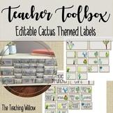 Teacher Toolbox Editable Cactus Theme Labels
