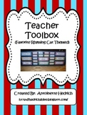 Teacher Toolbox (Favorite Rhyming Cat Themed) - EDITABLE