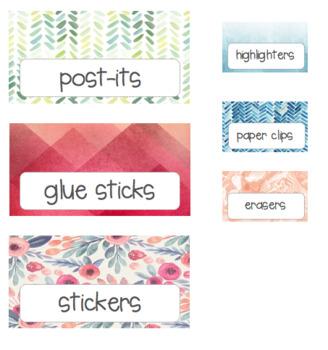 Teacher Toolbox- Floral, blues, pinks (editable)