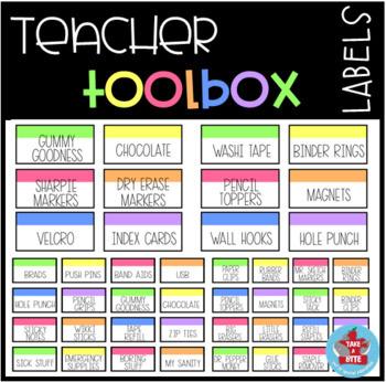 Teacher Toolbox Freebie
