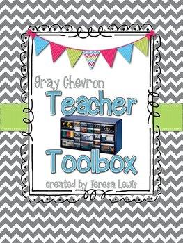 Teacher Toolbox Gray Chevron