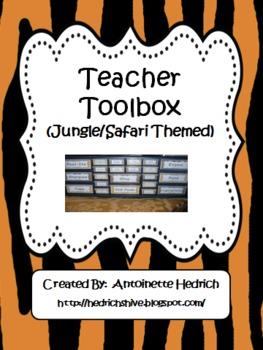 Teacher Toolbox (Jungle Themed) - EDITABLE