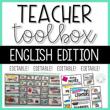 Teacher Toolbox Label - English Version