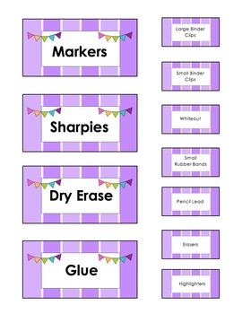 Teacher Toolbox Labels- EDITABLE