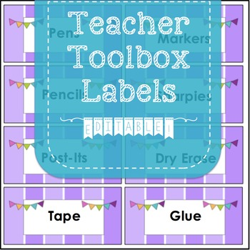 Teacher Toolbox Labels- EDITABLE