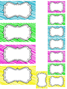 Teacher Toolbox Labels *editable*