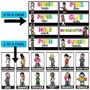 Teacher Toolbox Labels ~ Editable