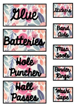 Teacher Toolbox Labels