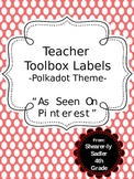 "Teacher Toolbox Labels - ""As Seen On Pinterest!"""