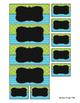 EDITABLE Teacher Toolbox Labels (Blue Green Pattern)