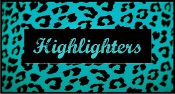 Teacher Toolbox Labels Blue Leopard