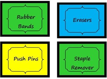 Teacher Toolbox Labels Bright Bugs