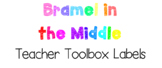 Teacher Toolbox Labels {Bright, Happy, and Organized!}