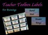 Teacher Toolbox Labels (Bunnings)