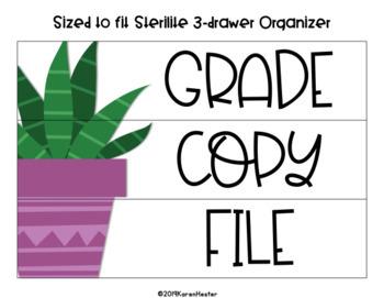Teacher Toolbox Labels - Cactus