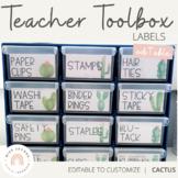 Teacher Toolbox Labels   Cactus Decor