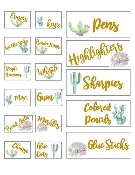 Teacher Toolbox Labels: Cactus Edition