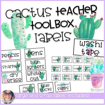 Teacher Toolbox Labels - Cactus Theme