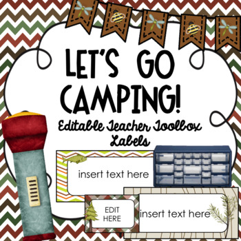Teacher Toolbox Labels ~ Camping Theme Editable